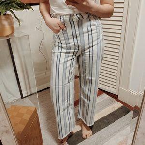 🆕 {{h&m}} High Rise Wide Leg Crop Jeans